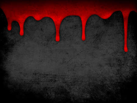 rupture: Red dripping blood grunge background Stock Photo