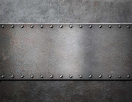 軍の金属の蒸気パンク背景