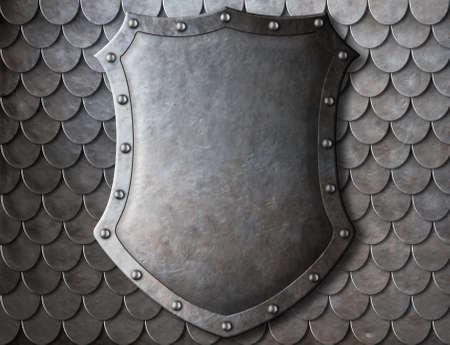 medievales: antiguo escudo de armas medieval escudo sobre escalas armadura fondo