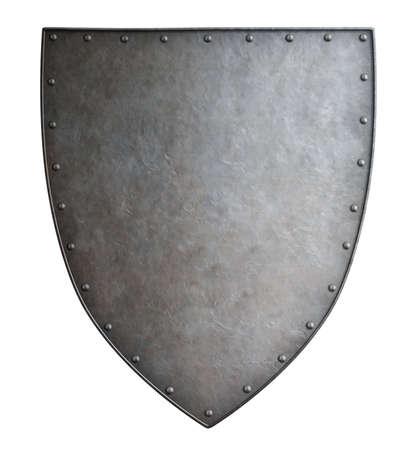 分離された単純な中世紋章付き外金属シールド