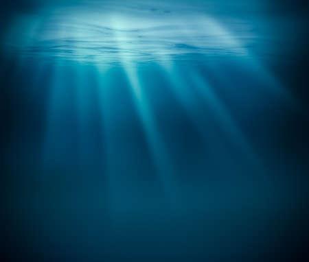 Sea deep or ocean underwater Foto de archivo