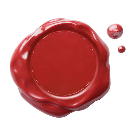 red postal wax seal