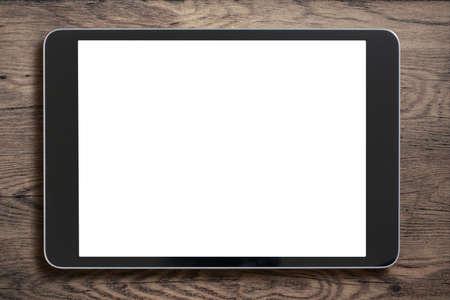 Černá Tablet PC na staré dřevo pozadí Reklamní fotografie