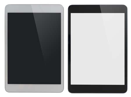 modern tablet PC similar to ipad isolated with clipping path included photo