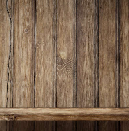 wooden crate: Empty wood shelf background