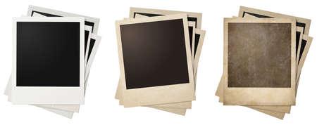 Alte und neue Bilderrahmen Stacks isoliert Standard-Bild - 36949484