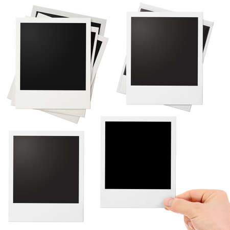 feature films: Various photo frames set isolated
