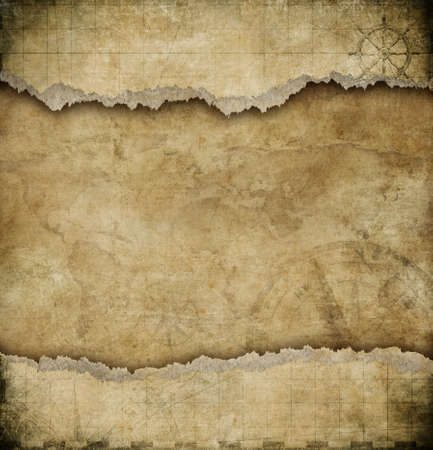 old torn paper vintage map background