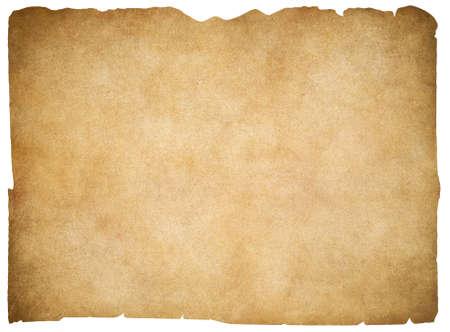 Alte leere Pergament oder Papier isoliert. Beschneidungspfad ist enthalten.