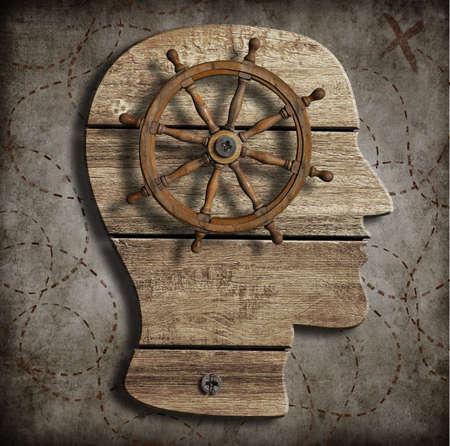 Behaviour and mind control concept photo