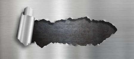 metals: Rasgada del metal de fondo agujero