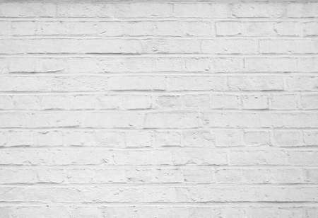 brick facades: Abstract old stucco white brick wall background Stock Photo