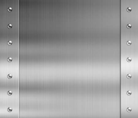 rivets: stainless steel metal frame with rivets Stock Photo