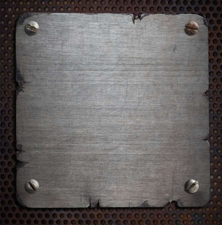 rusty metal: rusty metal plate with torn edges background Stock Photo