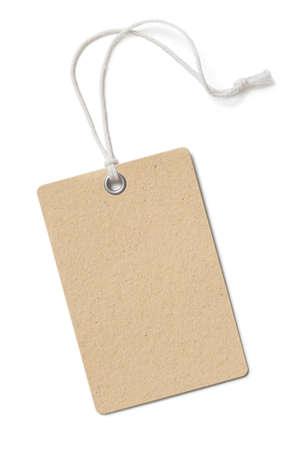 Bruin karton prijskaartje of etiket geïsoleerde