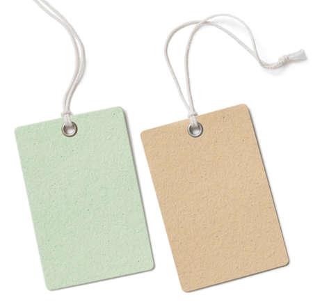 etiquetas de ropa: Precio en blanco paño o conjunto de etiqueta aislado en blanco