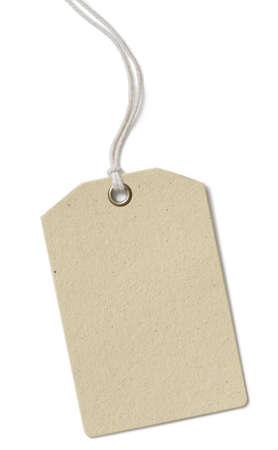 Aislado etiqueta de tela de precio en blanco Foto de archivo - 38787279