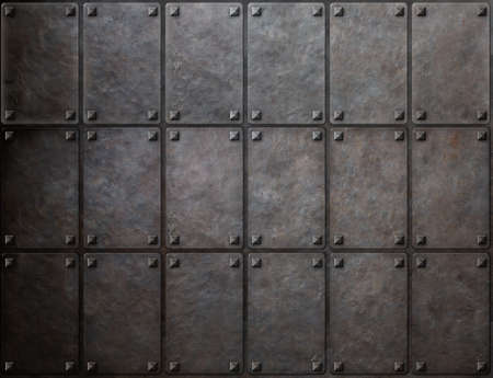 armoring: armour metal texture with rivets background