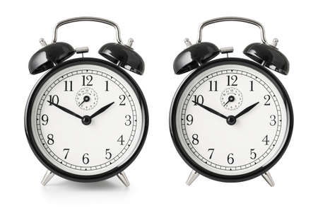 Alarm clock isolated with clipping path included photo