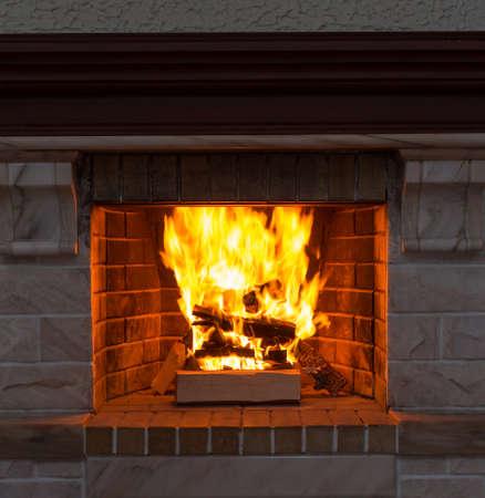 暖炉のクローズ アップ