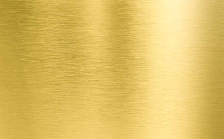 brushed: gold metal texture Stock Photo