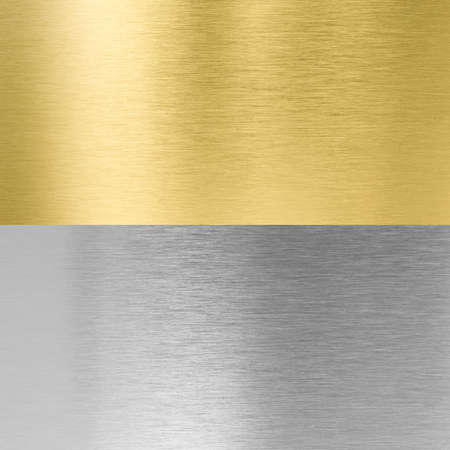 metal textures: silver and gold stitched metal textures Stock Photo