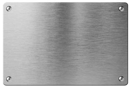 steel metal plate with rivets isolated Stock Photo