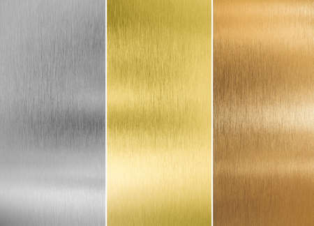 gold textures: high quality silver, gold and bronze metal textures