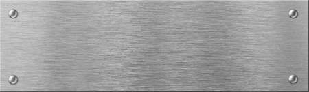 metales: placa de metal de acero estrecha con remaches Foto de archivo