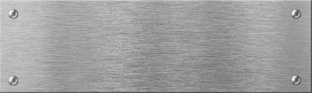 schmale Stahlmetallplatte mit Nieten