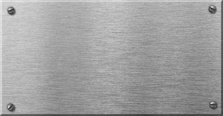metal plaque: steel metal plaque with rivets