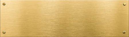 placa bacteriana: placa de metal de oro o Nameboard con remaches