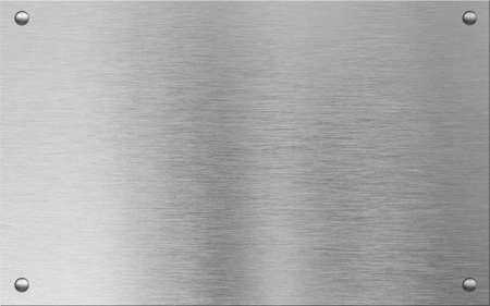 Metallschild mit Schraubenköpfe