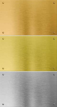 hochwertigen Silber, Gold und Bronze Metall Texturen