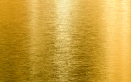 brushed: gold metal high quality texture Stock Photo