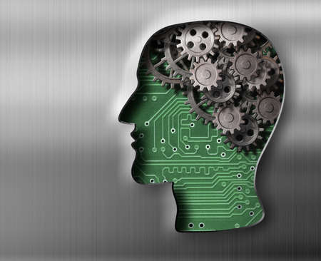 amnesia: Brain model in metal plate