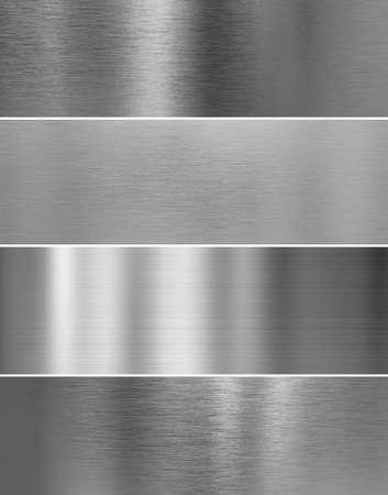 de alta calidad de la textura de metal de acero de plata fondos