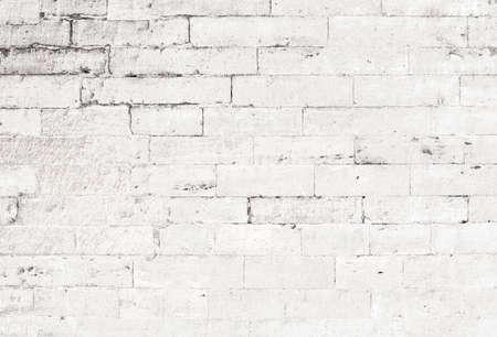 오래 된 흰색 벽돌 벽 배경