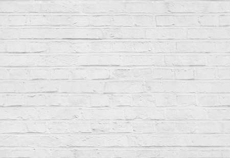 Seamless white brick wall pattern texture background