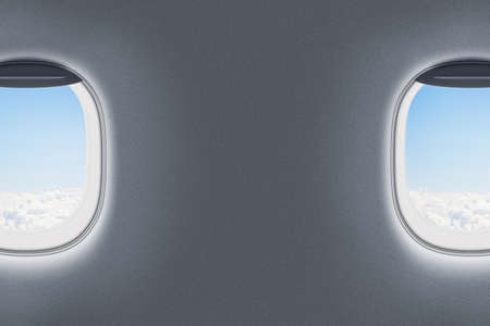 sidelight: airplane or jet windows interior