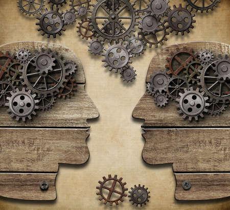 Communicatie, informatie en kennis uit te wisselen Het concept Stockfoto