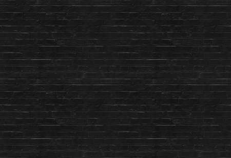 Seamless black brick wall pattern suitable for pattern filling Archivio Fotografico
