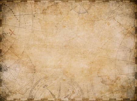 aged nautical treasure map illustration background