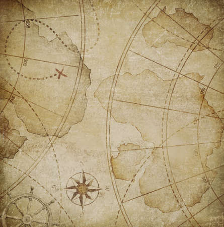 aged nautical pirates map background