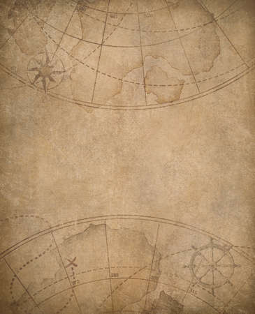 nautical pattern: aged nautical map background with copyspace in center