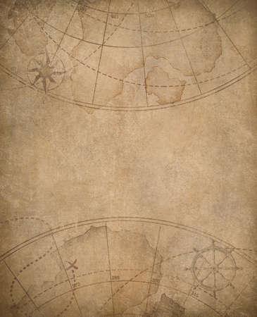 oude nautische kaart achtergrond met copyspace in het centrum
