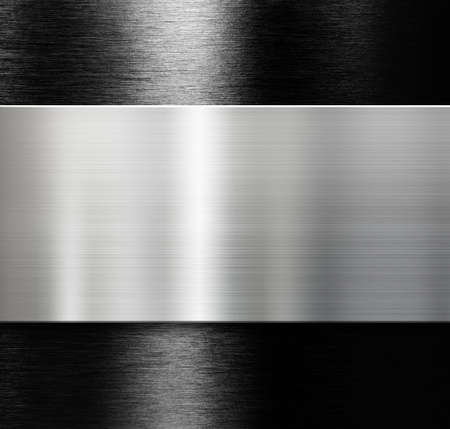 brushed aluminum: metal plate over black brushed aluminum