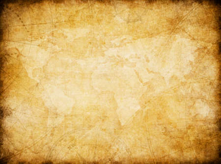 antique background: vintage world map stylization background