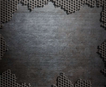 mesh: Dark damaged steel metal background