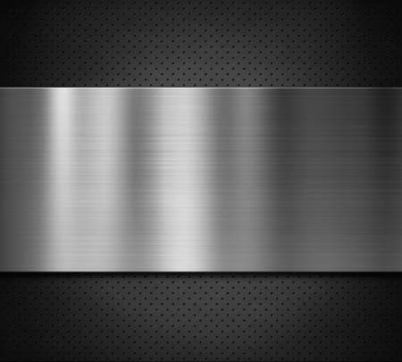 metal plate over dark perforated surface